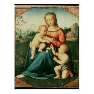 Madonna and Child with St. John the Baptist Postcard