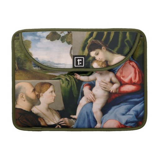 Madonna and Child with the Infant Saint John MacBook Pro Sleeves