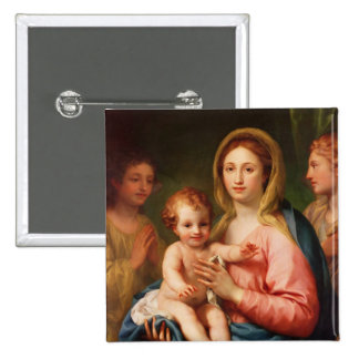 Madonna and Child with Two Angels, 1770-73 15 Cm Square Badge