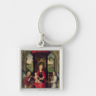 Madonna and Child with two Angels Keychain