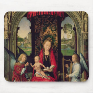 Madonna and Child with two Angels Mouse Pad