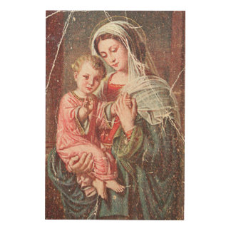 Madonna and Child Wood Wall Decor