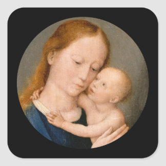 Madonna and Christ Child Square Sticker