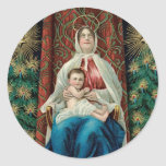 Madonna and Christ Child Stickers