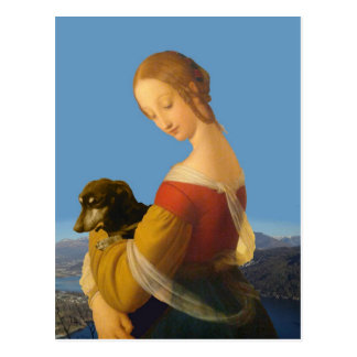 Madonna and Dachshund Art Tate Britain Postcards