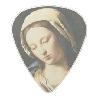 Madonna at Prayer (oil on canvas) Acetal Guitar Pick