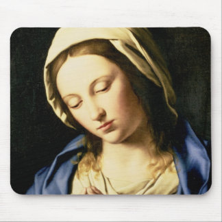 Madonna at Prayer (oil on canvas) Mouse Mat