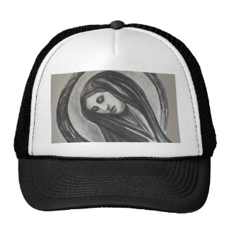 Madonna Ave Maria Mary Grey White Charcoal Cap