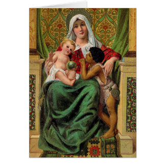 Madonna Baby Jesus Vintage Christmas Card
