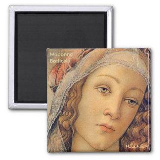 Madonna - Botticelli Square Magnet