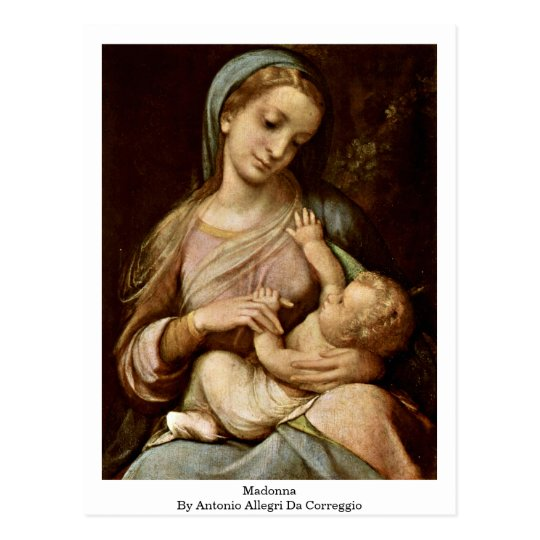 Madonna By Antonio Allegri Da Correggio Postcard