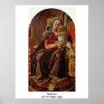 Madonna By Fra Filippo Lippi Poster