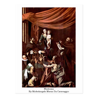 Madonna By Michelangelo Merisi Da Caravaggio Postcard