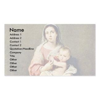 Madonna By Murillo Bartolomé Esteban Perez Business Card