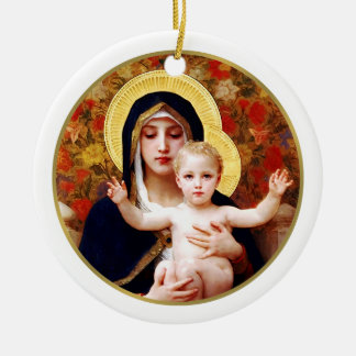 Madonna by W. Bouguereau. Christmas Gift Ornament