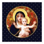 Madonna by W. Bouguereau. Religious Christmas Card 13 Cm X 13 Cm Square Invitation Card