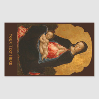Madonna & Child art stickers
