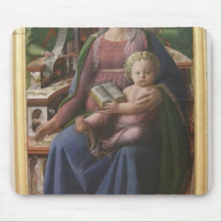 Madonna, Child Enthroned, Angels by Filippo Lippi Mouse Pad