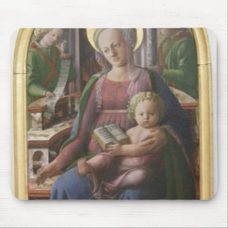 Madonna, Child Enthroned, Angels by Filippo Lippi Mousepad