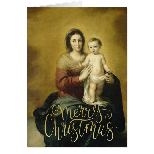 Madonna & Child, Fine Art Christmas Greeting Card