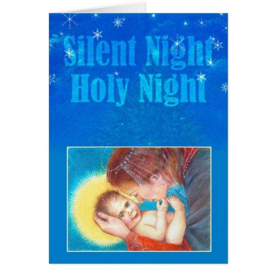 madonna & child magical christmas card