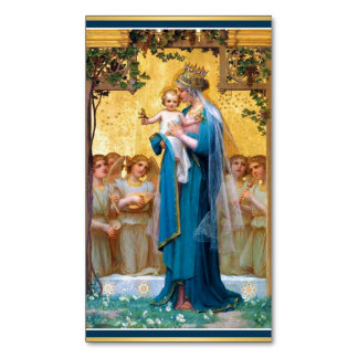 Madonna & Child Magnetic Holy Cards -25/pack Magnetic Business Cards