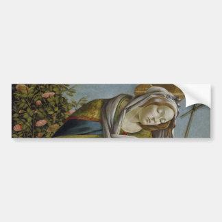 Madonna, Child, St John the Baptist by Botticelli Bumper Sticker