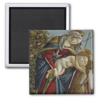 Madonna, Child, St John the Baptist by Botticelli Magnets