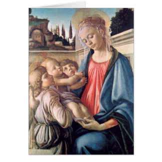 Madonna & Child Two Angels Botticelli Fine Art Card