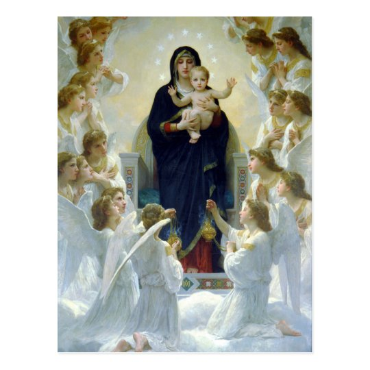 Madonna + child with Angels, christmas postcards