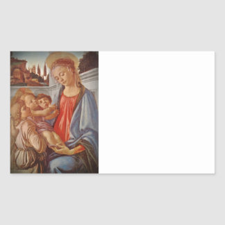 Madonna Christ Child and Two Angels Sticker