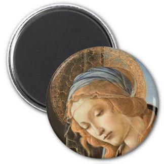 Madonna col Bambino 6 Cm Round Magnet