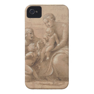 madonna col bambino san giovannino by Raffaello iPhone 4 Case-Mate Case