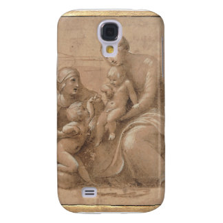 madonna col bambino san giovannino by Raffaello Galaxy S4 Cases