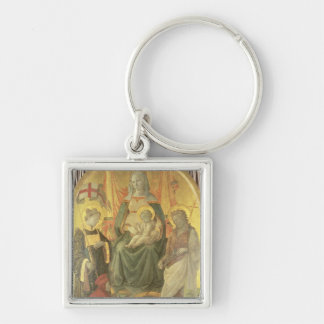 Madonna del Ceppo, 1453 (and detail 62016) Silver-Colored Square Key Ring