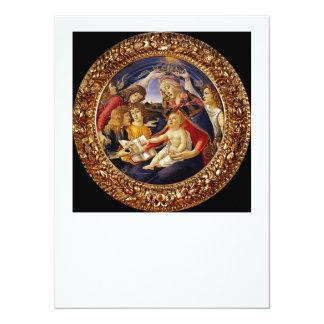 """Madonna del Magnificat 5.5"""" X 7.5"""" Invitation Card"""