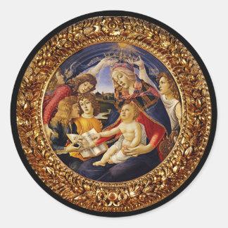 Madonna del Magnificat Round Sticker