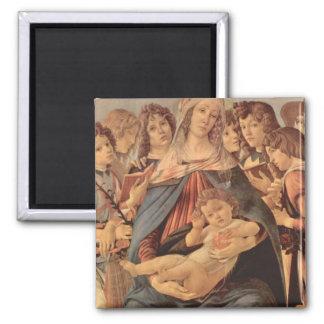Madonna della Melagrana by Botticelli Fridge Magnet