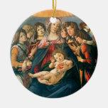 Madonna della Melagrana Christmas Ornament