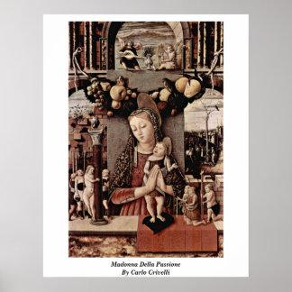 Madonna Della Passione By Carlo Crivelli Poster