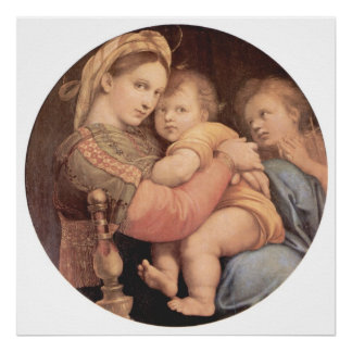 Madonna della Sedia Poster