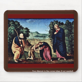 Madonna Enthroned St. Peter St. John The Baptist, Mouse Pad