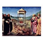 Madonna Enthroned St. Peter St. John The Baptist, Postcard