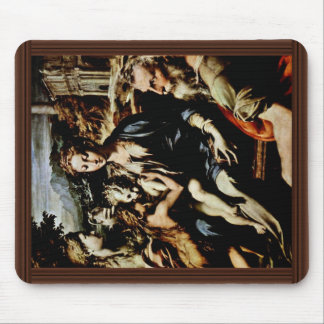 Madonna Enthroned St. Zachary St. John The Baptist Mouse Pad