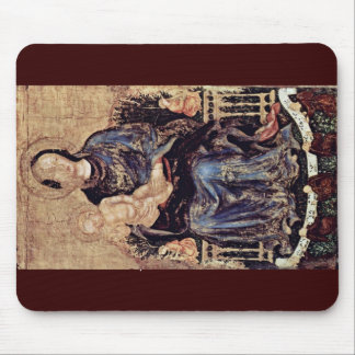 Madonna Enthroned With Angels Mouse Pad