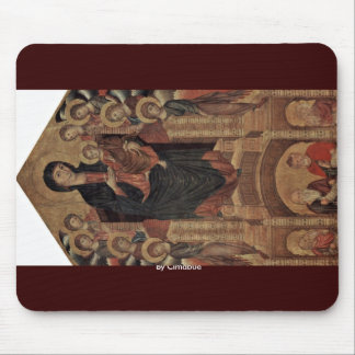 Madonna Enthroned With Eight Angels, Four Prophets Mouse Pad