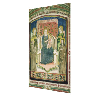Madonna Enthroned with St. Francis of Assisi Canvas Print
