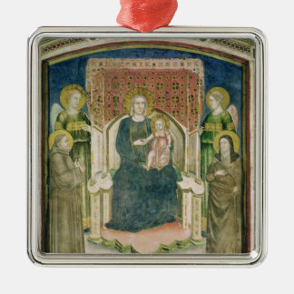 Madonna Enthroned with St. Francis of Assisi Christmas Ornament