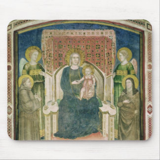 Madonna Enthroned with St. Francis of Assisi Mouse Pad