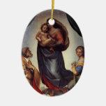 Madonna Fine Art by Raphael Christmas Ornaments